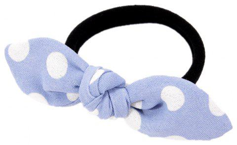 Solid Color White Dot Rubber Band Bow Hai Rline - SEA BLUE
