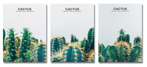 DYC11162 - bc-10-289-290-291 3PCS photographie impression de cactus - multicolor