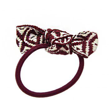 Sweet Colorful Bowknot Hairband for Women - RED WINE