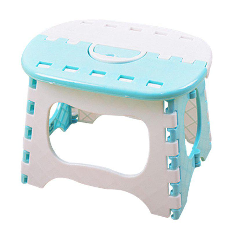 Plastic Folding Type Thicken Step Portable Stool - multicolor A