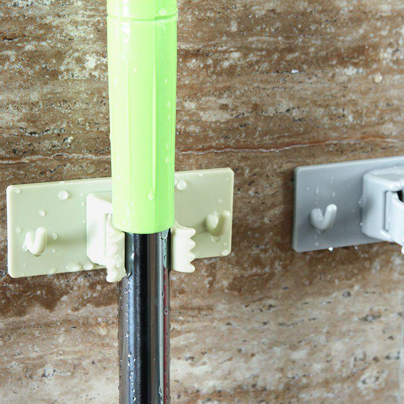 Bathroom Mop Broom No Punching Hook Up - GREEN 9.8X4X4CM