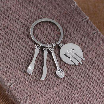 Creative Kitchen Gadget Keychain Mother's Day Gift - SILVER