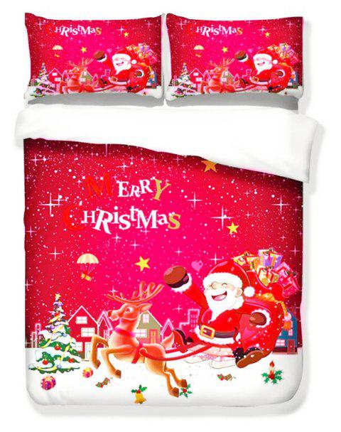 Quality Creative Happy Christmas Three-Piece Set - multicolor TWIN