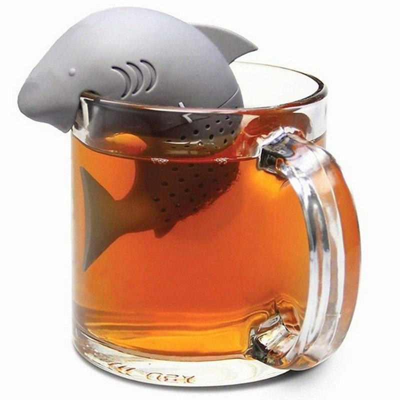New Shark-Shaped Tea Filter - BLUE GRAY