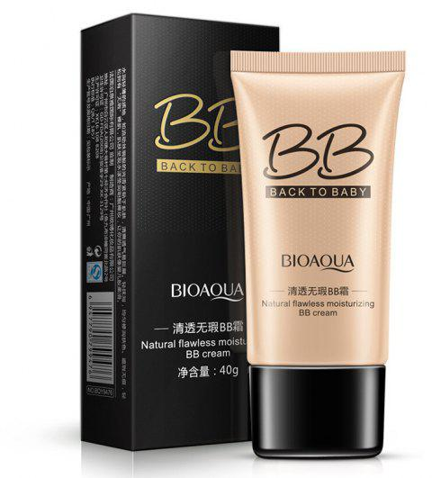 BIOAQUA Ivory Natural Flawless Moisturizing BB Cream 40G - MILK WHITE ONE SIZE(FIT SIZE XS TO M)