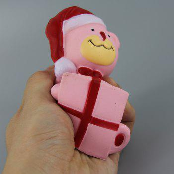 Jumbo Squishy Christmas Bear with Box Toy - PINK