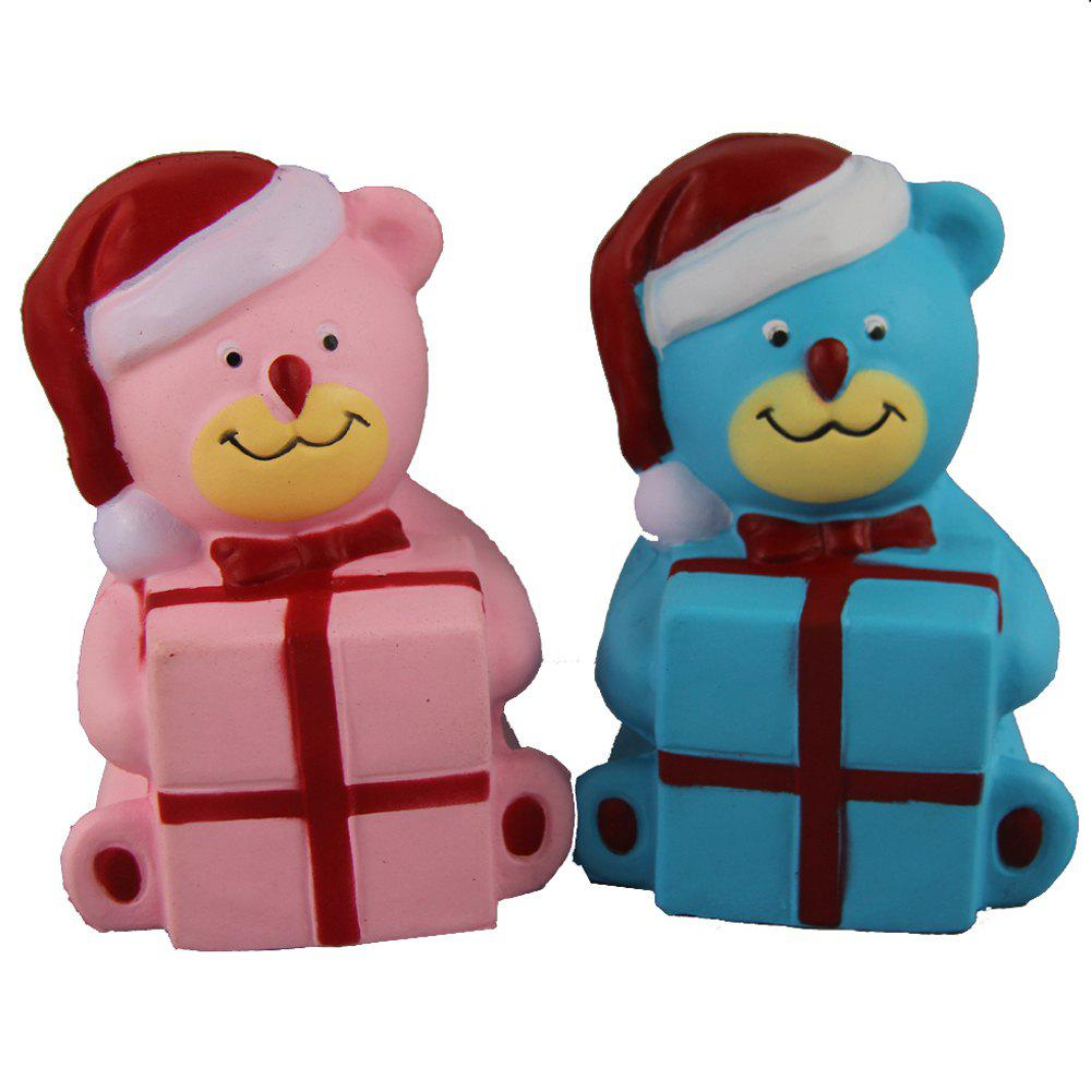 2PCS Jumbo Squishy Christmas Bears with Box Toys - multicolor A