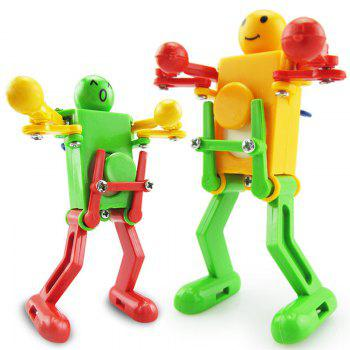 High Quality Clockwork Wind Up Dancing Robot Toy 3PCS - multicolor