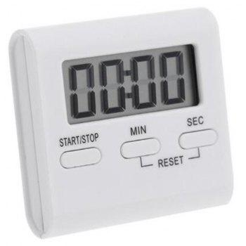 Hot LCD Digital Kitchen Cooking Timer Count-Down Up Clock Loud Alarm Magnetic - WHITE