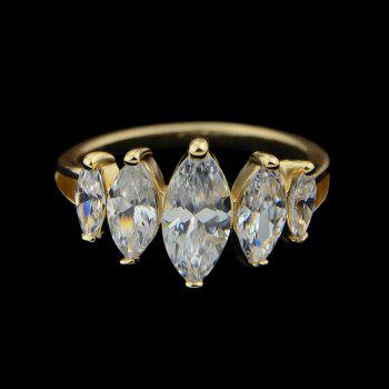 Wedding Engagement Simulated Crystal Women Finger Ring - GOLD ONE-SIZE
