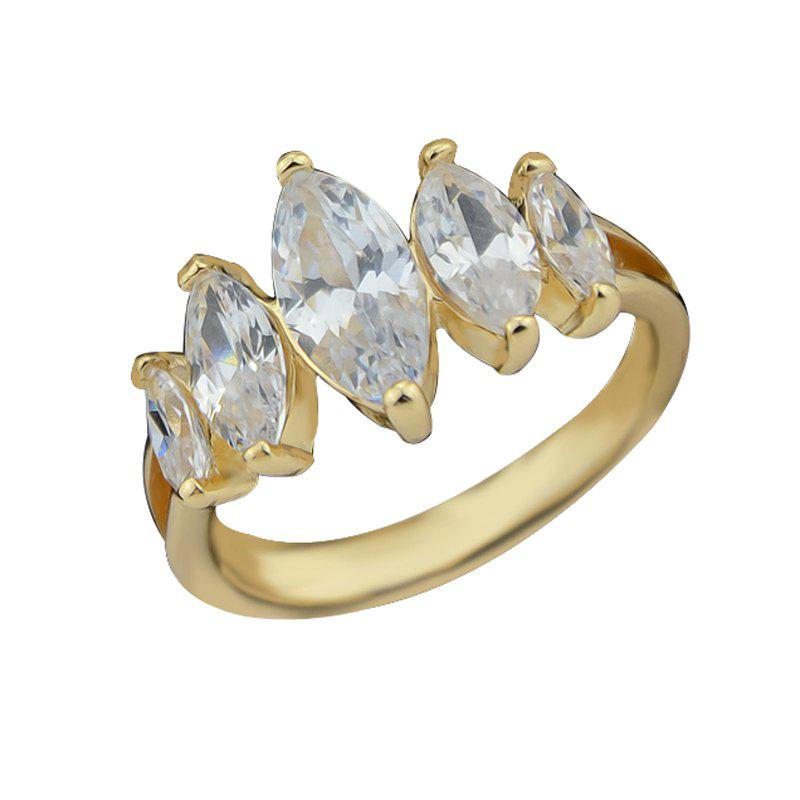 Fiançailles de mariage Simulated Crystal Women Finger Ring - Or ONE-SIZE