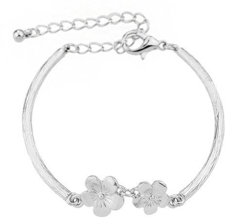 Minimalist Flower Bracelet for Women - NATURAL WHITE