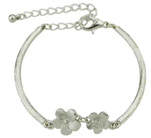 Minimalist Flower Bracelet for Women - SILVER