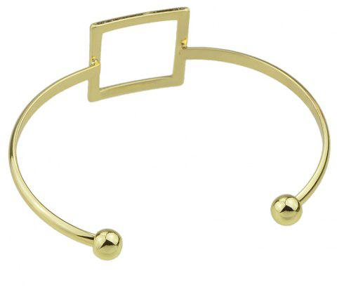 Couleur or creux-Out Square Cuff Open Bracelet bijoux - Or