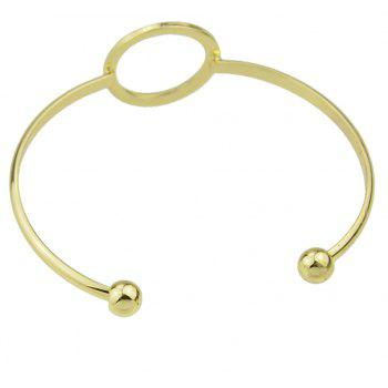 Gold Color Hollow-out Circular Cuff Open Bracelet Jewelry - GOLD