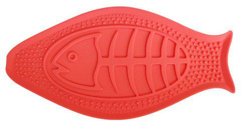 Creative Pet Bath Buddy Slow Eating Transfer Attention Fixed Suction Cup Bowl - RED