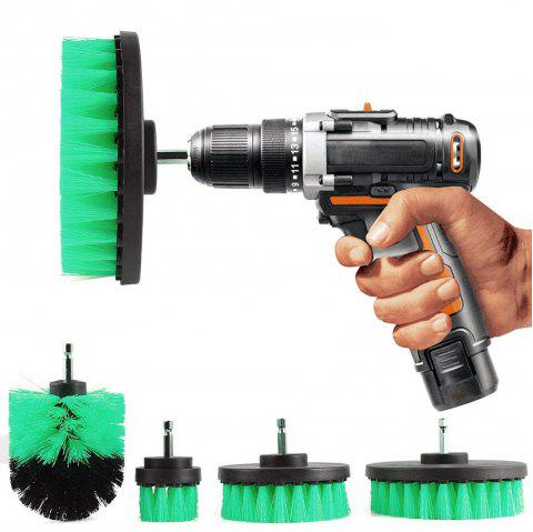 5 in 1 Multifunctional Electric Drill Cleaning Brush Power Scrubber Cleaner Kit - GREEN