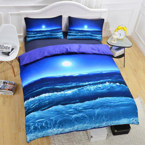 High-End Premium 3D Bedding  Set of Three - multicolor TWIN