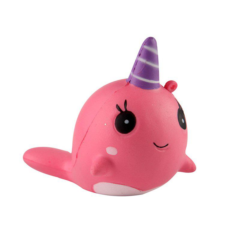 Unicorns Slow Recoil Relief Jouets Jumbo Squishy - Rose Pastèque