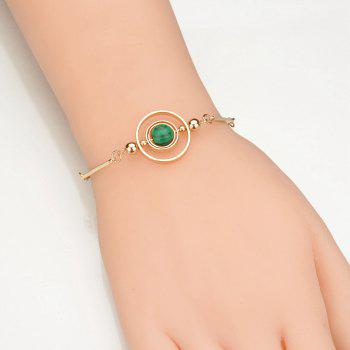 Personality National Wind Moonlight Turquoise Synthetic Opal Bracelet - MEDIUM SPRING GREEN