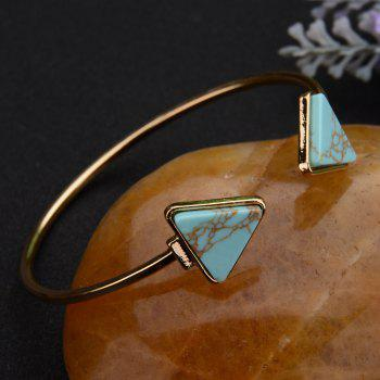 Triangle Turquoise with Marble Bracelet - LIGHT SEA GREEN