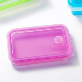 SKL Portable Outdoor Travel Tableware Microwave Silicone Folding Lunch Box - HELIOTROPE PURPLE