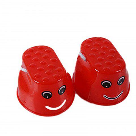 Échasses sautantes Walk Outdoor Fun Sports Toy 2PCS - Rouge