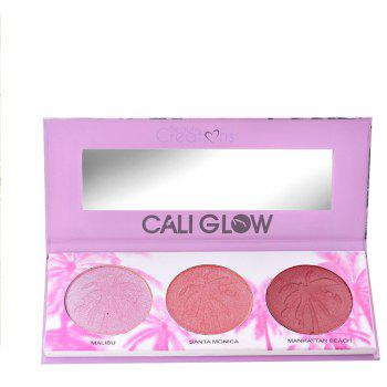 Cosmetic Case Blush Eye Shadow Combination Makeup Tray 3pcs - multicolor