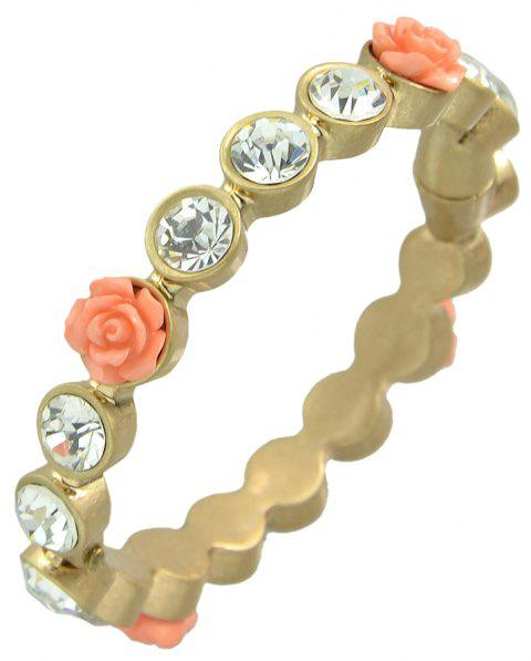 Beautiful Flower Rhinestone Bracelet for Women - GOLD