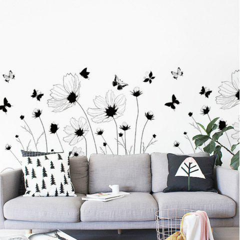 Autocollant Mural Belle Romantique Simple Noir Art Décor Murale - multicolor