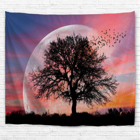 Lonely Tree 3D Printing Home Wall Hanging Tapestry for Decoration - multicolor W229CMXL153CM