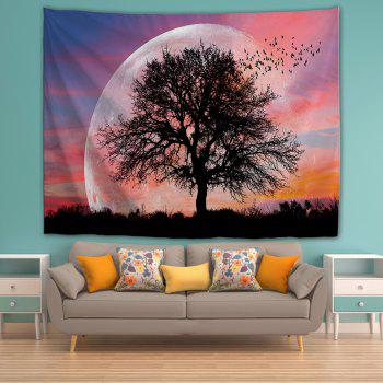 Lonely Tree 3D Printing Home Wall Hanging Tapestry for Decoration - multicolor W153CMXL102CM
