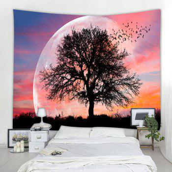 Lonely Tree 3D Printing Home Wall Hanging Tapestry for Decoration - multicolor W203CMXL153CM