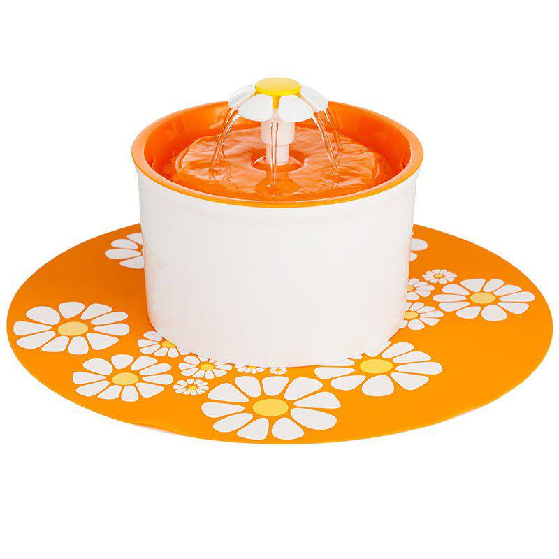 Healthy and Hygienic Pet Fountain Ultra Quiet - ORANGE