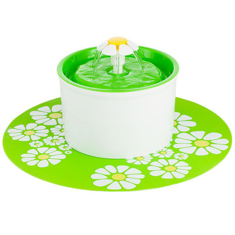 Healthy and Hygienic Pet Fountain Ultra Quiet - GREEN