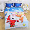 New High Quality  Christmas Series Bedding  Set of Three - multicolor TWIN