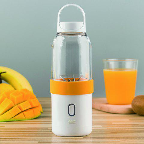 Juicer of Full Automatic and Mini Portable Cup-Shape Juicer 550ML - DARK ORANGE 500 ML
