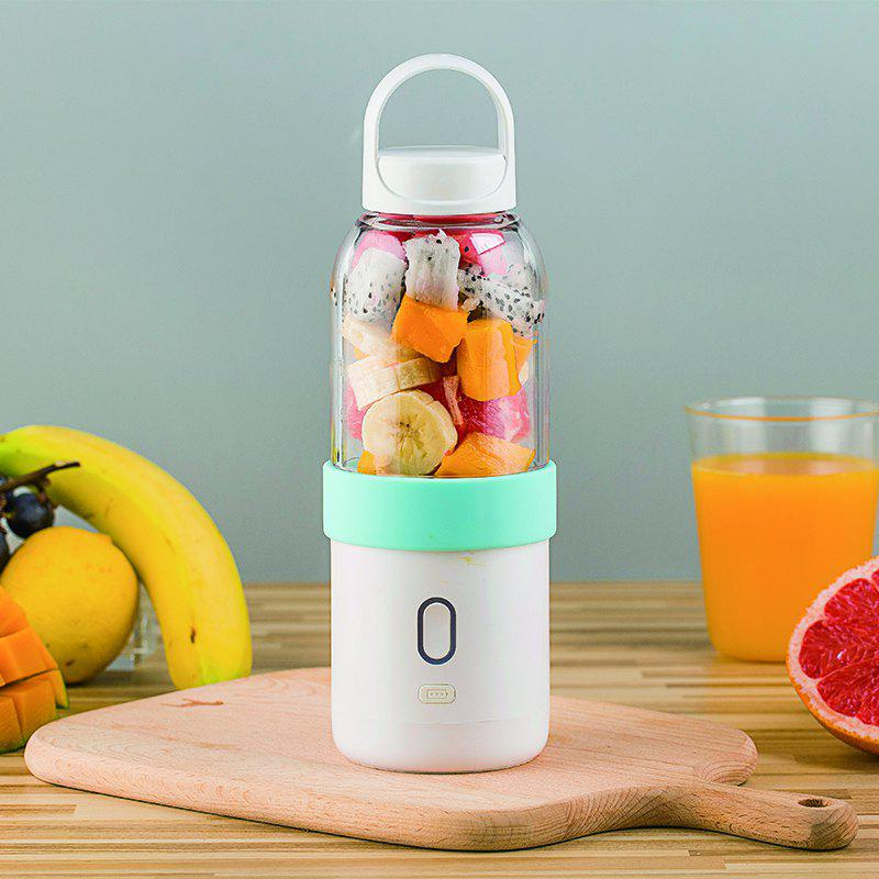 Juicer of Full Automatic and Mini Portable Cup-Shape Juicer 550ML - CORAL BLUE 500 ML