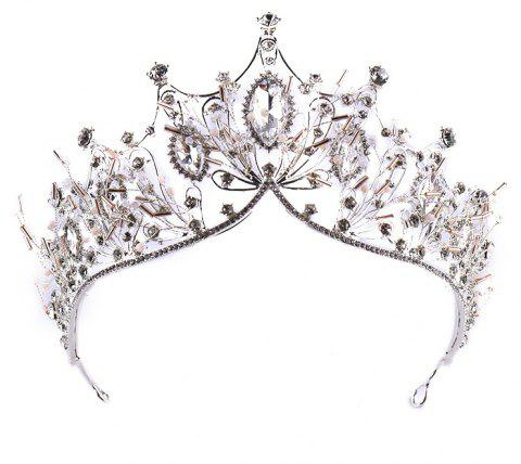 La mariée Grand Crystal Princess Hairband - Blanc Froid 34 X 8CM