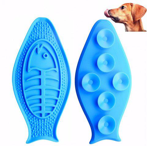 Creative Pet Bath Buddy Slow Eating Transfer Attention Fixed Suction Cup Bowl - DEEP SKY BLUE