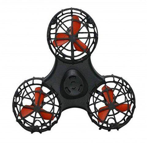 Fingertip Gyro Flying Air Decompression Toy Finger Aircraft - BLACK