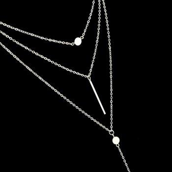 Multilayers Long Chain Necklace for Women - SILVER