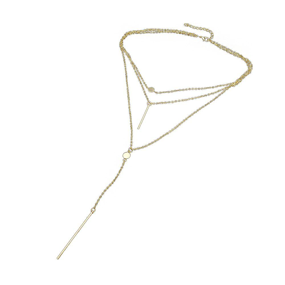 Multilayers Long Chain Necklace for Women - GOLD