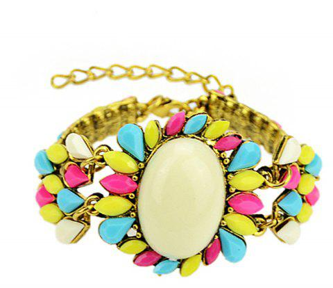 Colorful Gemstone Charm Bracelets for Women - multicolor