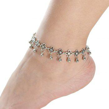 Fashion Metal Plated Bead Anklet Beach Barefoot Sandals - SILVER