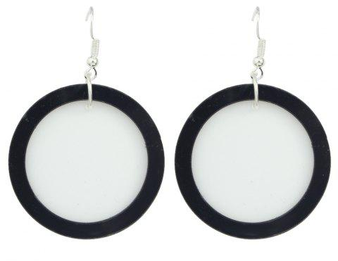 Fashion Circle Dangle Statement Earrings for Women - WHITE