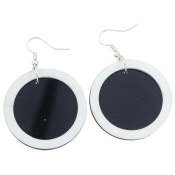 Fashion Circle Dangle Statement Earrings for Women - BLACK