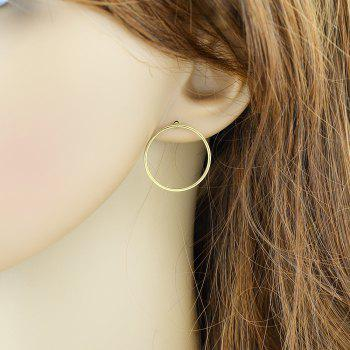 Minimalist Individual Geometric Circle Earrings - GOLD