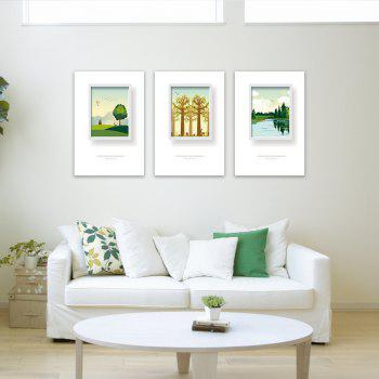 3PCS W434 Tree Grasslands  Forest Unframed Wall Canvas Print for Home Decoration - multicolor 30CM X 45CM X 3PCS