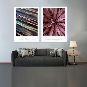 2PCS W447 Plant Unframed Wall Canvas Print for Home Decoration - multicolor 30CM X 42CM X 2PCS